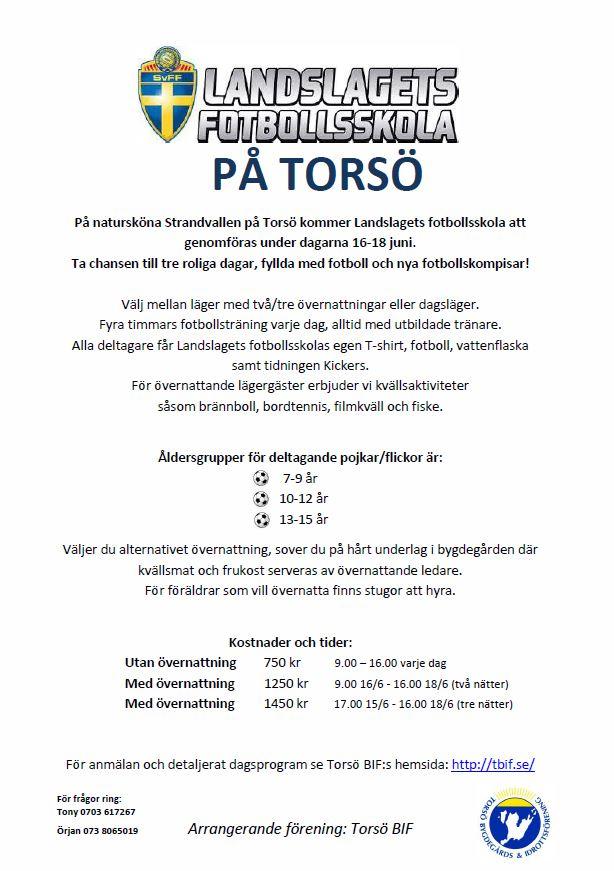 Inbjudan_LandslagetsFotbollsskola_På _Torsö_2014